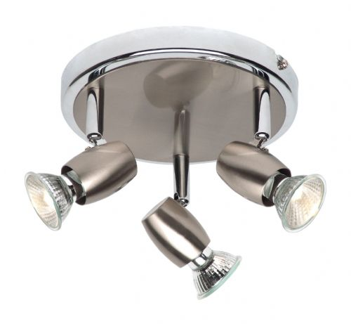 Brushed chrome effect & chrome effect plate Spotlight G5503477 by Endon